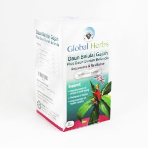 Global Herbs Daun Belalai Gajah + Daun Durian Belanda - Halal Health Supplements