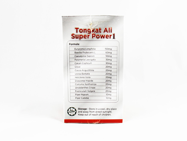 Global Herbs Tongkat Ali Super Power 1 - Halal Health Supplements