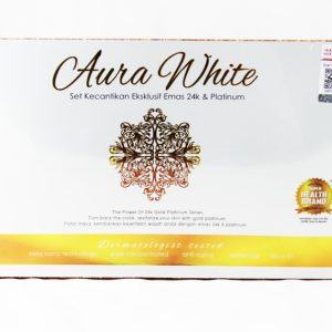 AURA WHITE 24K Luxury Gold Platinum Series Beauty Set