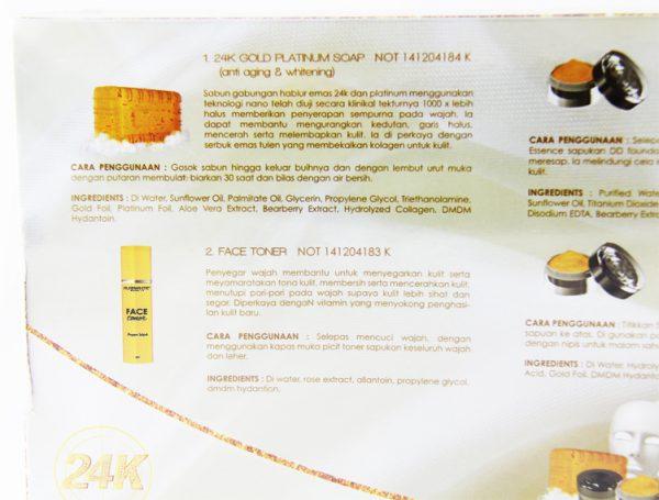 AURA WHITE 24K Luxury Gold Platinum Series Beauty Set