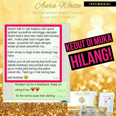 AURA WHITE 24K Luxury Gold Platinum Skin Care and Beauty Set Testimonial